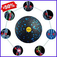 Массажный мяч 4FIZJO Epp Ball 08 4FJ1257 Black-Blue для миофасциального массажа, спины и триггерных точек