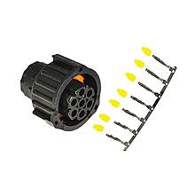 """З'єднання-коннектор AMP від заднього ліхтаря (""""тато"""") EasyConn 7 pin"""