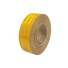 Світловідбиваюча стрічка для маркування кузова Жовта 50м Е13