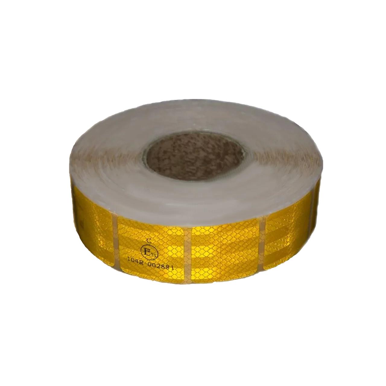 Світловідбиваюча стрічка для маркування кузова Квадратами Жовта 50м Е31