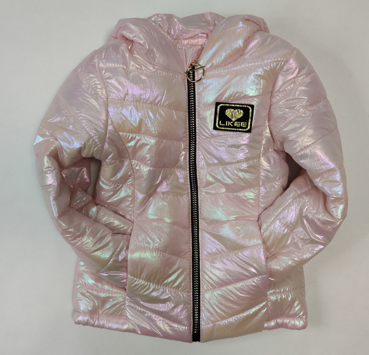 Детская демисезонная куртка для девочки розовая 9-10 лет
