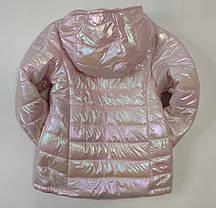 Детская демисезонная куртка для девочки розовая 9-10 лет, фото 2