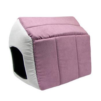 Домик для собак, антикоготь, бордо, 32*32*35 см