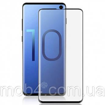 Захисне скло для Samsung Galaxy (Самсунг) S10 plus ( На весь екран)