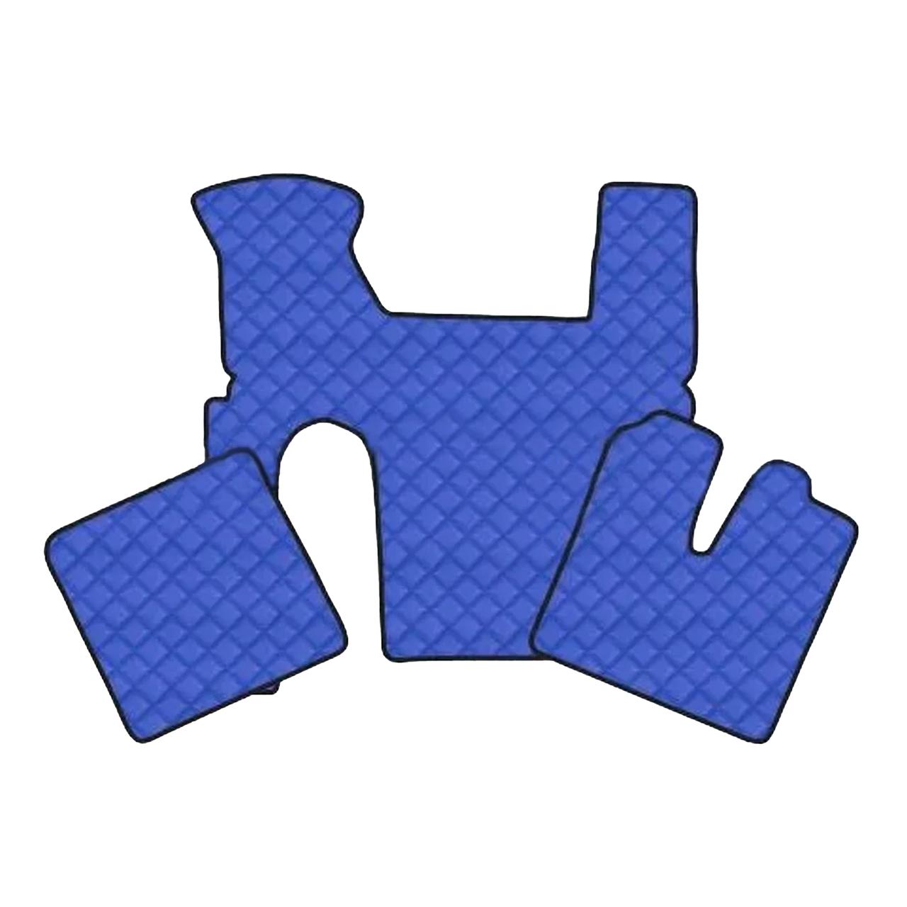 Коврик Эко-кожа MAN TGX Синие Автомат 1 ящик