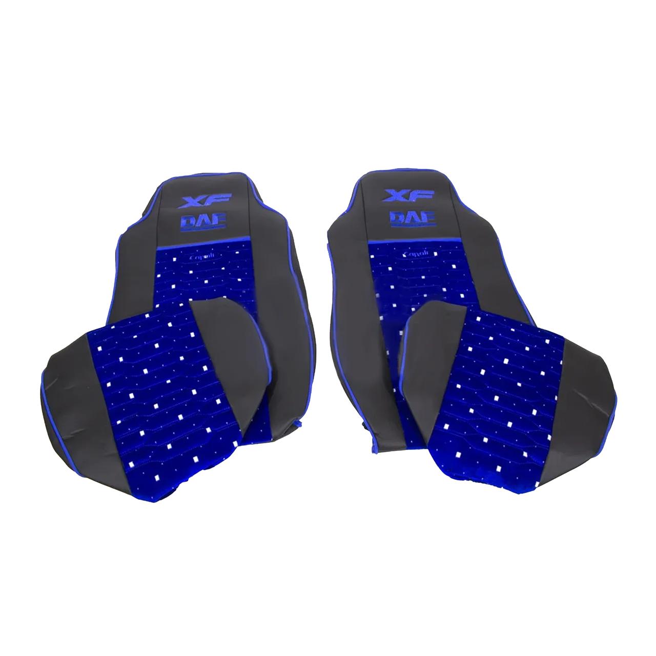 Чехлы на сиденье KADİFE DAF XF 95 Синие