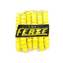 Пластикові ковпачки на гайку 32 Жовті 60шт Стрілка