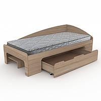 Кровать-90+1 односпальная, детские и подростковые кровати с ящиком для игрушек 95х70х204 см (Компанит)