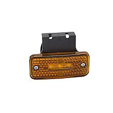 Габаритний ліхтар светодиодый Жовтий з кронштейном 24v 3LED NOKTA