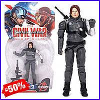 Игровая фигурка супергерой Marvel Зимний Солдат Мстители Winter Soldier Avengers игрушка для детей