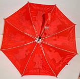 Детский розовый зонт-трость Маша и Медведь со свистком на 8 спиц, фото 2