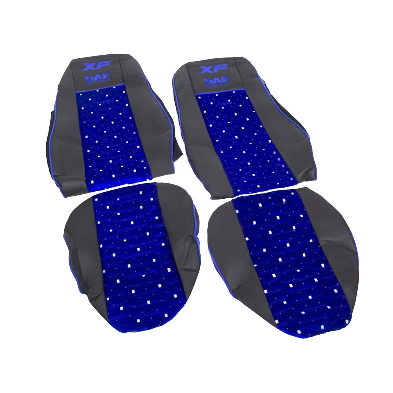 Чехлы на сиденье KADİFE DAF XF 105 Синие