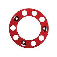 Ковпак металевий на колесо відкритий 22,5 Червоний