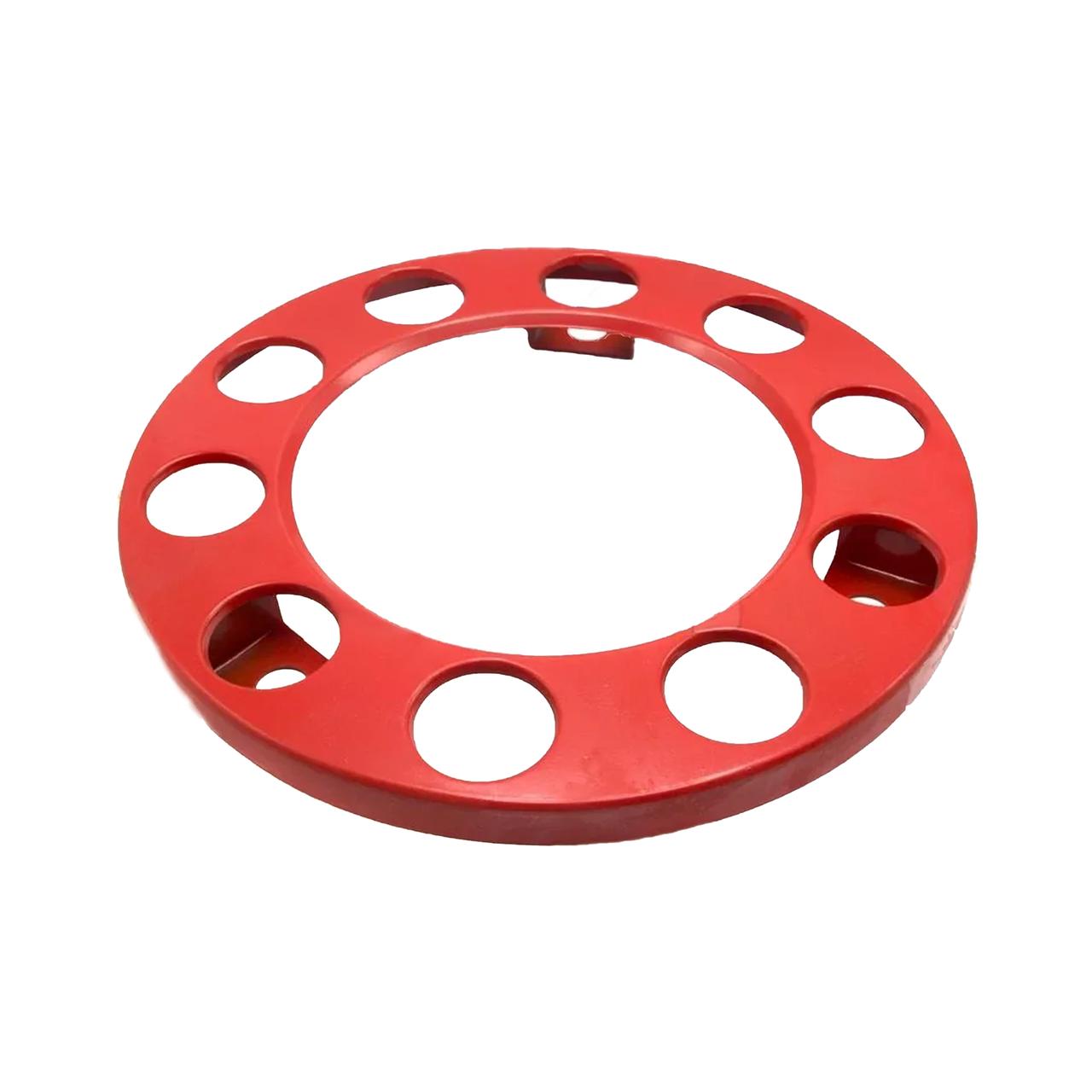 Колпак металлический на колесо открытый R 22,5 Красный