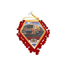 Вимпел декоративний ромб DAF 106 Маленький Червоний