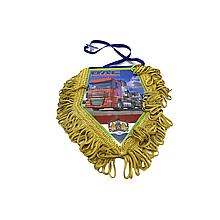 Вимпел декоративний ромб DAF Маленький Жовтий