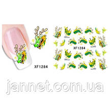 """Детские наклейки на ногти """"Динозавры"""" - размер стикера 6*5см, инструкция по применению есть в описании товара"""