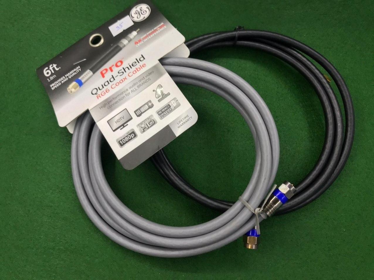 Коаксиальний кабель Pro Quad-Shield RG6 Coax Cable