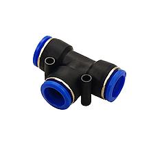 Аварійний з'єднувач пневматичний Ø 10 мм - Ø 8 мм - Ø 10 мм