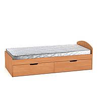 Кровать-90+2 односпальная, детские и подростковые кровати с ящиками для игрушек 92х60х201 см (Компанит)