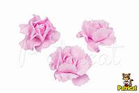 Цветок Гвоздика 7 см розовая из Фоамирана (Латекса) 1 шт