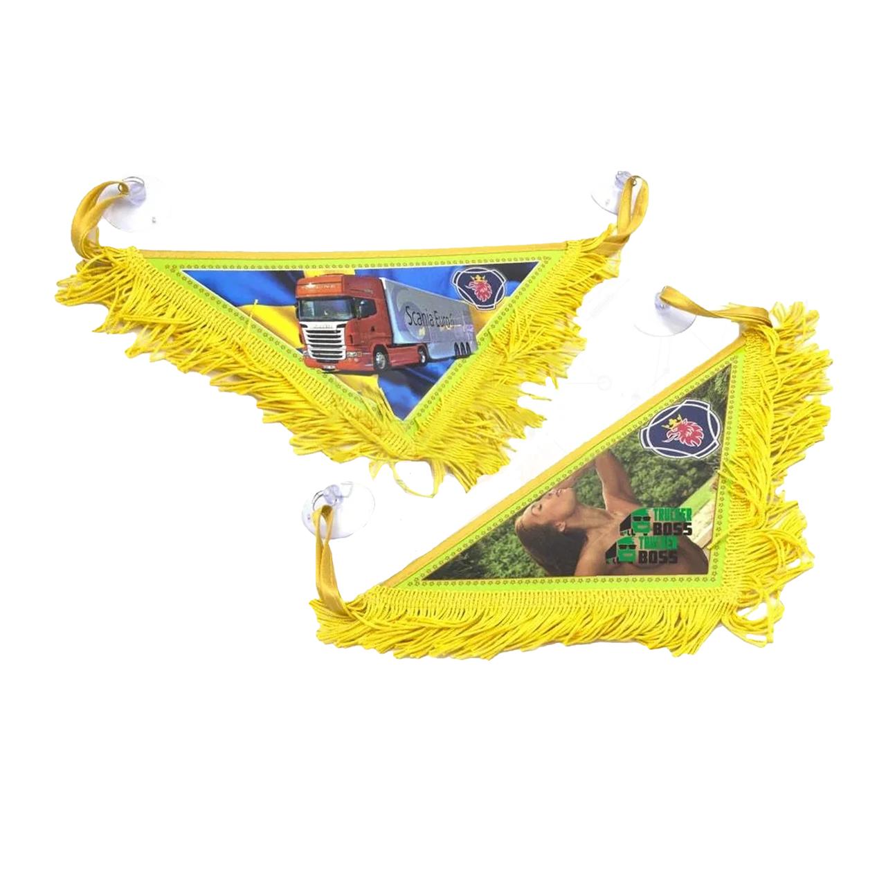 Вымпел декоративный треугольный SCANIA Желтый Маленький