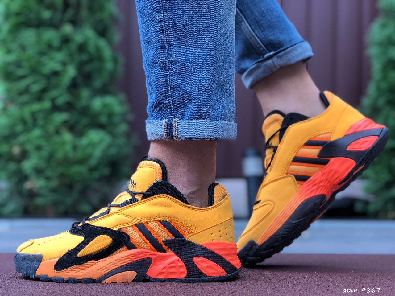 Чоловічі осінні кросівки Adidas Streetball,помаранчеві (жовті) 44,46