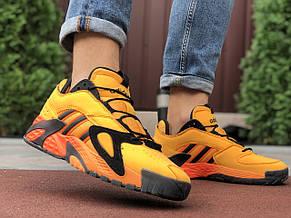 Чоловічі осінні кросівки Adidas Streetball,помаранчеві (жовті) 44,46, фото 3