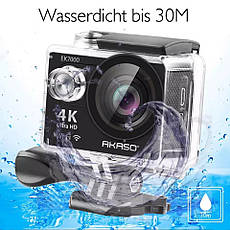 Экшн-камера AKASO EK7000, Wi-Fi, 4K, Ultra HD, фото 3
