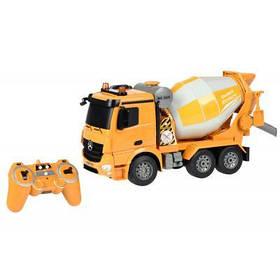 Радиоуправляемая игрушка Same Toy Бетономешалка желтая Mercedes-Benz 1:20 (E528-003)