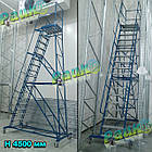 Складская лестница Н2750 мм, лестница-платформа на колесах, фото 4