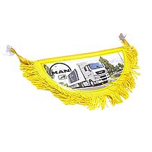 Вимпел декоративний півколо MAN Маленький Жовтий