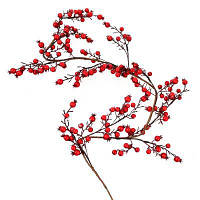 Украшение декоративное YES! Fun Ветка с красными ягодами, 150 см