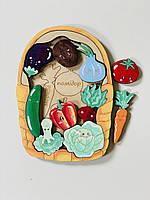 Дерев'яний сортер Intellect Wood овочі 20*15 рамка вкладиш з назвами (s00012)