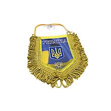 """Вымпел декоративный ромб """"Украина"""" Желтый Маленький"""