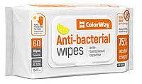 Спиртовые салфетки ColorWay для дезинфекции (15смx17см) 60 шт (CW-3960)