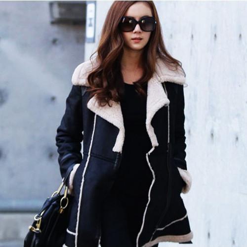 Женское стильное замшевое зимнее , модель 0341
