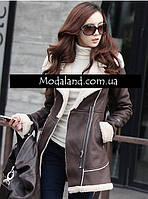 Женское стильное замшевое зимнее , модель 0341, фото 3
