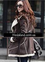 Женское стильное замшевое зимнее , модель 0341, фото 4