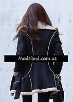 Женское стильное замшевое зимнее , модель 0341, фото 5
