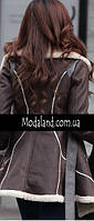 Женское стильное замшевое зимнее , модель 0341, фото 8