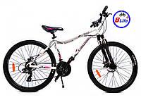 Горный велосипед женский Crosser 26 Angel рама 16,5/белый/алюминиевая рама/дисковые тормоза