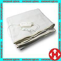 Электроодеяло Electric Blanket (100 W, 150х155 см) Белое, простынь с подогревом электро одеяло, фото 1