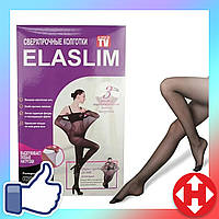 Безразмерные сверхпрочные колготки Elaslim, черные, женские колготки которые не рвутся, фото 1