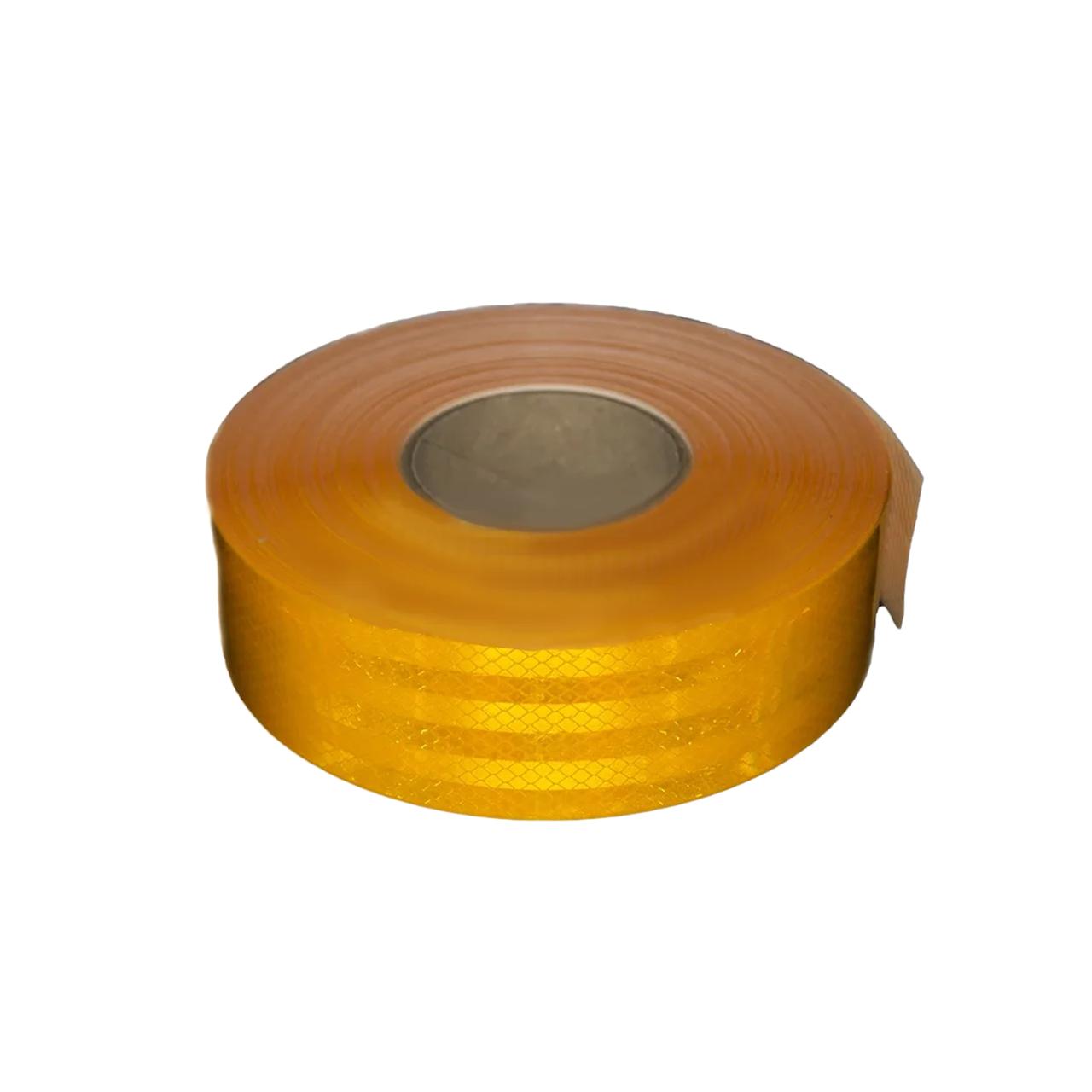 Лента светоотражающая для маркировки кузова Желтая 50м Е31