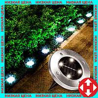 """Уличный светильник на солнечной батарее """"Bell Howell Disk lights"""" (4 led) - садовый фонарь, фото 1"""