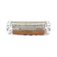 Габаритний ліхтар світлодіодний Білий-Жовтий 24v 18LED BAD