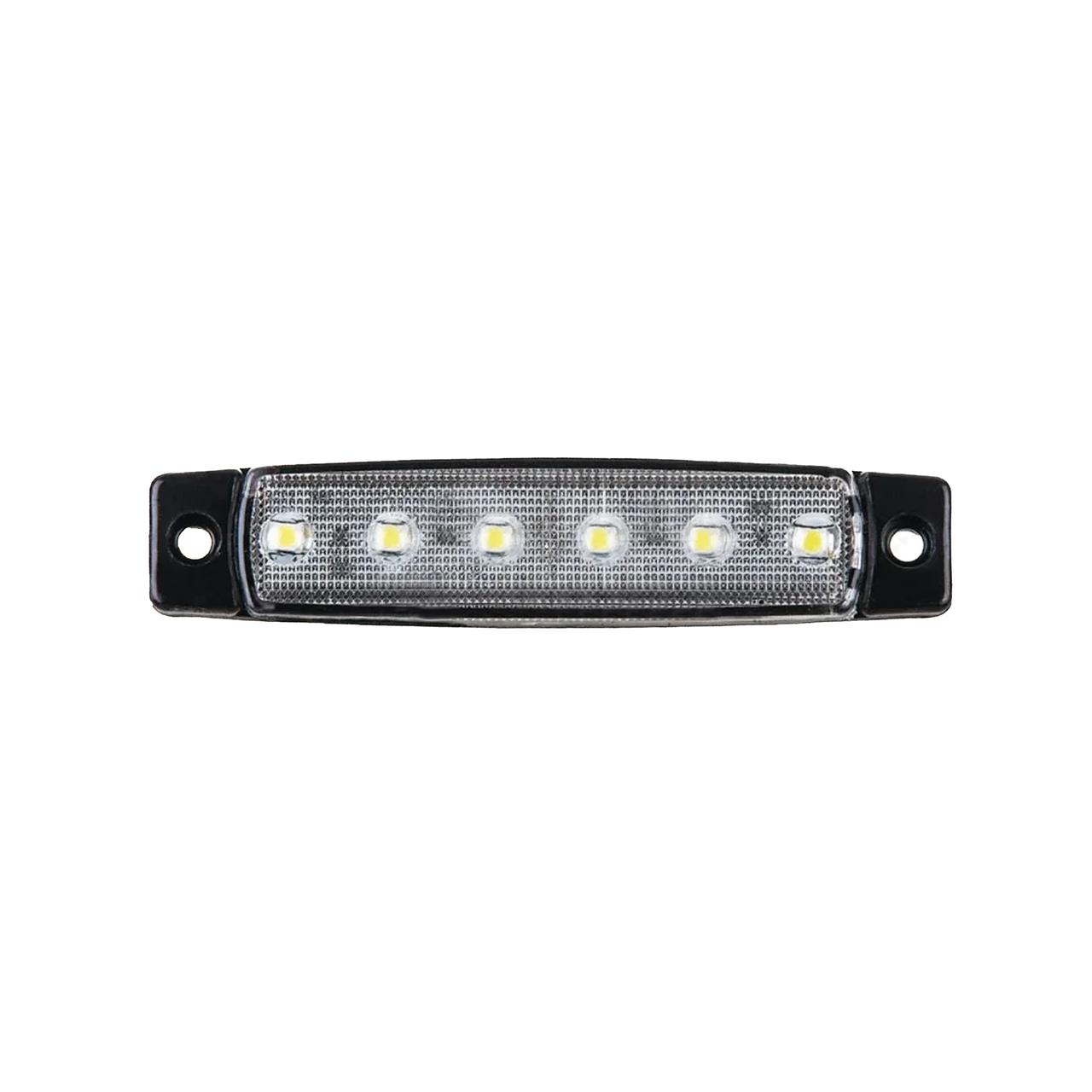 Габаритный фонарь светодиодный Белый 24v 6LED NOKTA