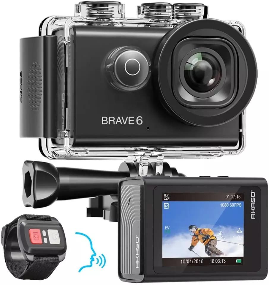 Экшн-камера AKASO Brave 6 WiFi 4K 20MP
