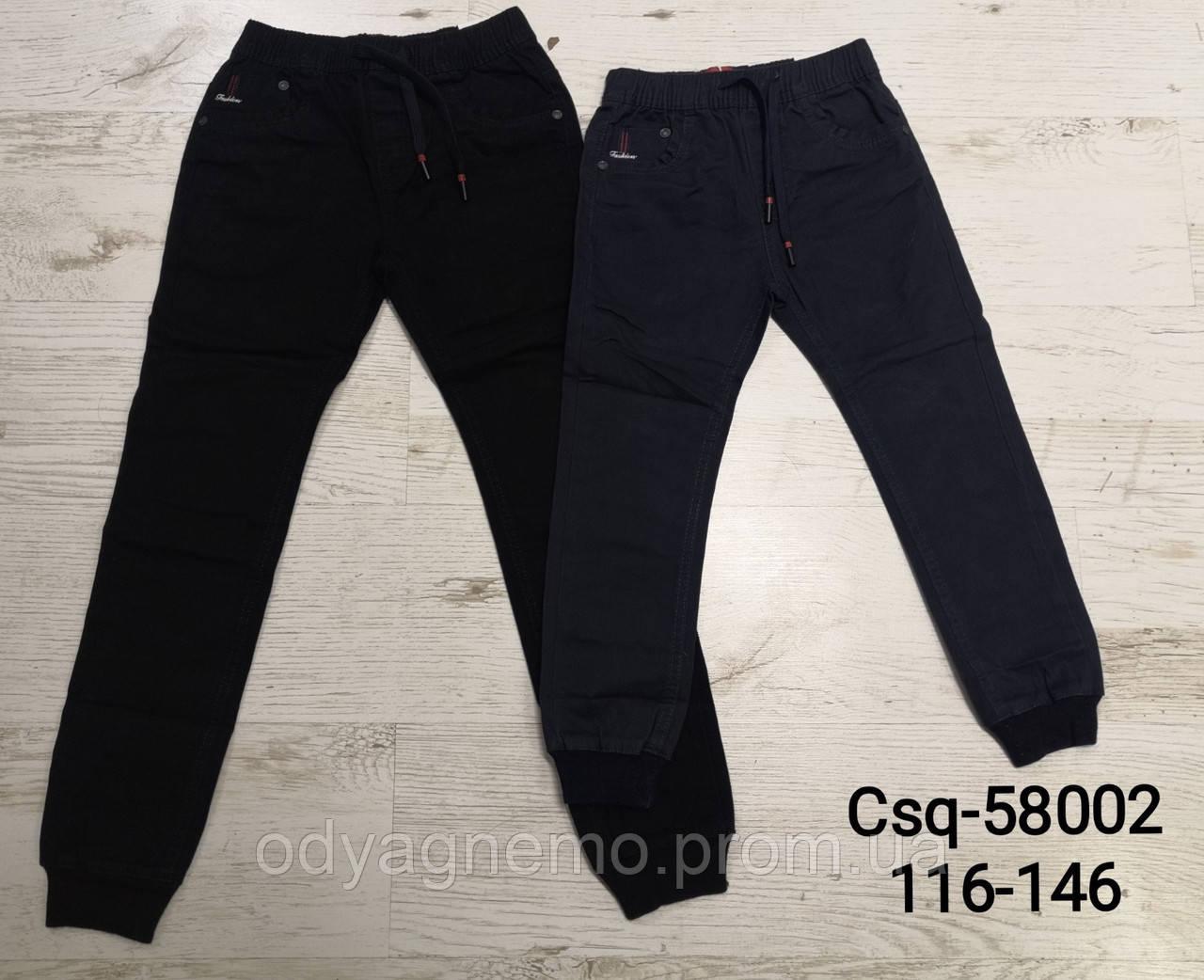 Котоновые брюки для мальчиков Seagull оптом, 116-146 рр. Артикул: CSQ58002